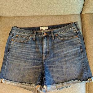 Madewell Denim High-Rise Cutoff Shorts